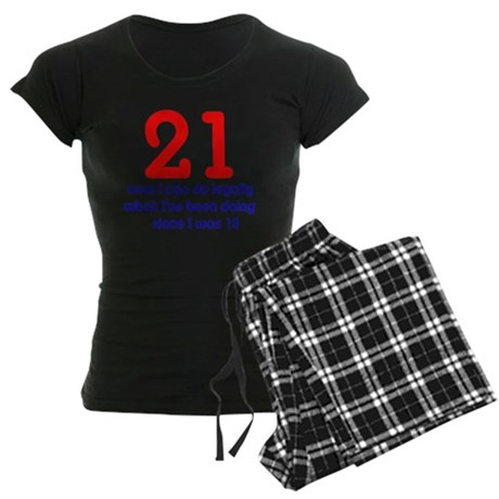 21st Birthday Women's Dark Pajamas