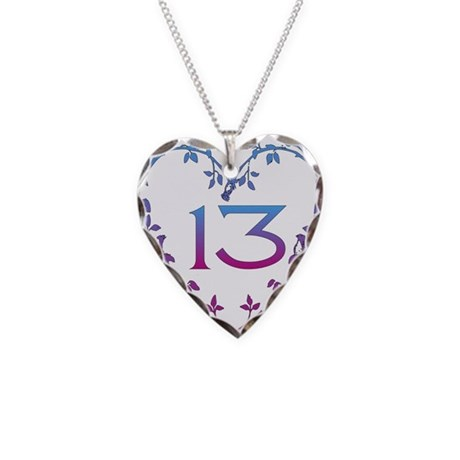 thirteenth birthday necklace charm by myholidaystore
