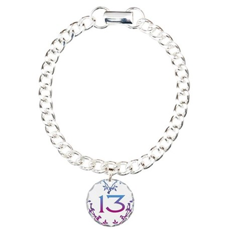 Thirteenth Birthday Charm Bracelet, One Charm