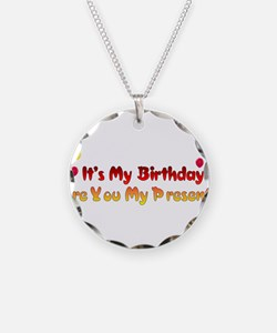 Are You My Birthday Present Necklace