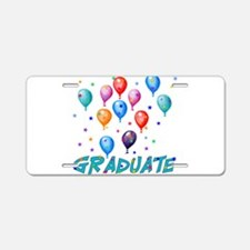 Graduation Balloons Aluminum License Plate