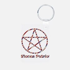 Wiccan Patriot Keychains