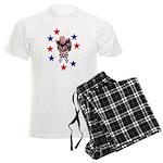 Independence Day Kitten Men's Light Pajamas