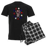 Independence Day Kitten Men's Dark Pajamas