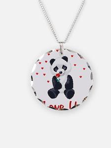 Panda Bear Valentine Necklace