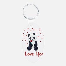Panda Bear Valentine Keychains