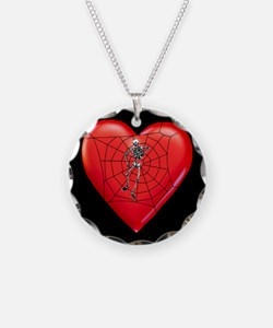 Spider Heart Valentine Necklace