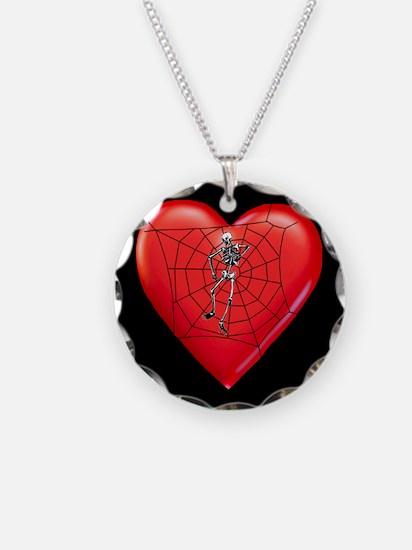 Spider Heart Valentine Necklace