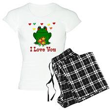 Green Frog Valentine Pajamas