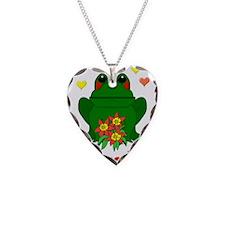 Green Frog Valentine Necklace