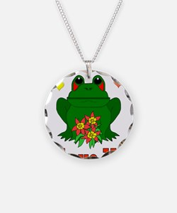 Green Frog Valentine Necklace
