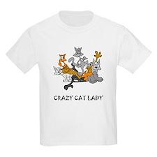 Crazy Cat Lady Kids T-Shirt