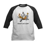 Crazy Cat Lady Kids Baseball Jersey