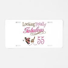 Fabulous 55th Aluminum License Plate