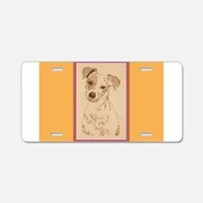 Jack Russell Terrier Smooth Aluminum License Plate