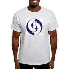 Ash grey crop circle T-Shirt