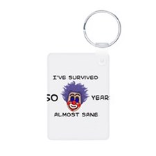 50 Birthday Aluminum Photo Keychain