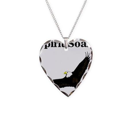 Eagle Soars Necklace Heart Charm