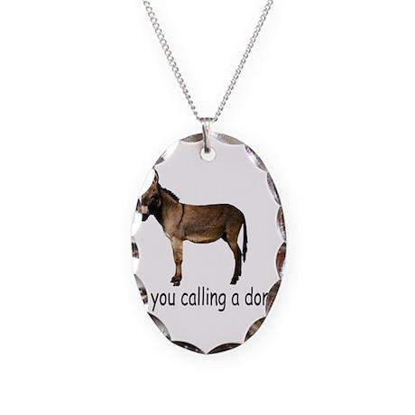 Poker Donkey Necklace Oval Charm
