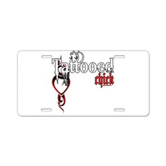 Tattooed Chick Aluminum License Plate