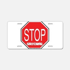 Stop The Snitching Aluminum License Plate