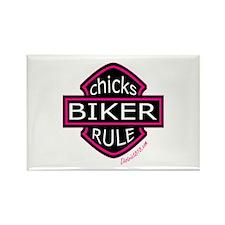 BIKER CHICKS Rectangle Magnet (10 pack)