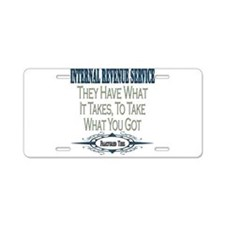 IRS Aluminum License Plate