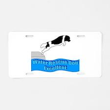 Funny Newfoundland rescue Aluminum License Plate