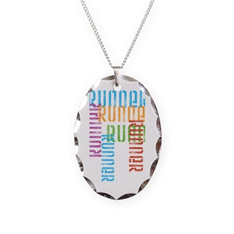 Run Off Variety Necklace Oval Charm