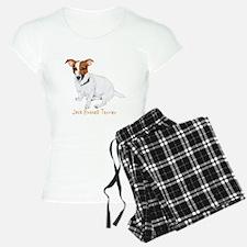 Jack Russell Terrier Painting Pajamas