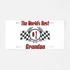 Racing Grandpa Aluminum License Plate