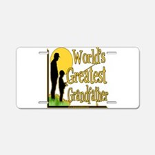 World's Greatest Grandfather Aluminum License Plat