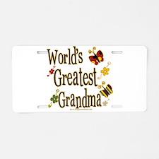 Grandma Butterflies Aluminum License Plate