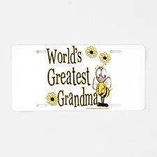 Grandma Bumble Bee Aluminum License Plate