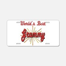 Starburst Grammy Aluminum License Plate