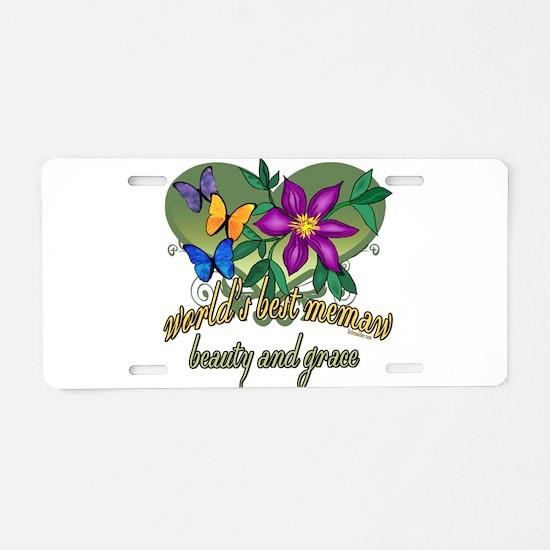 Beautiful Memaw Aluminum License Plate