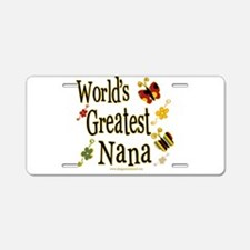 Nana Butterflies Aluminum License Plate