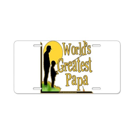 World's Greatest Papa Aluminum License Plate
