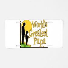 World's Greatest Papa Aluminum License Plate