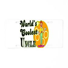 World's Coolest Uncle Aluminum License Plate