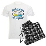 Bunny, Duck and Boat Men's Light Pajamas