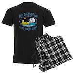 Bunny, Duck and Boat Men's Dark Pajamas