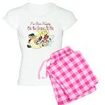 Naughty Elf & Santa Women's Light Pajamas