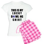 Lucky Bowling Shirt Women's Light Pajamas