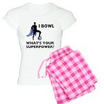 Bowling Superhero Women's Light Pajamas