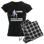 Bowling Superhero Women's Dark Pajamas