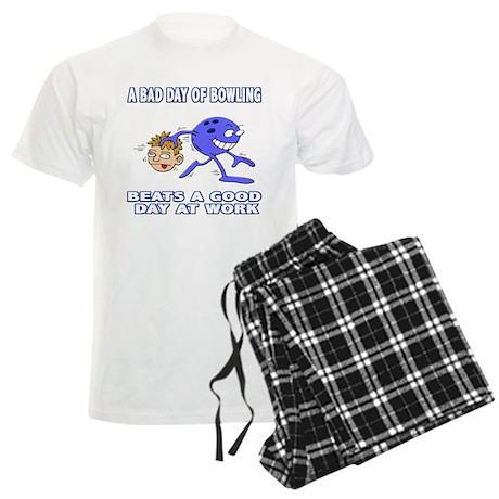 Bad Day Of Bowling Men's Light Pajamas