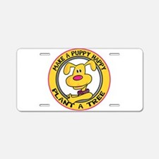 Make a Puppy Happy Aluminum License Plate