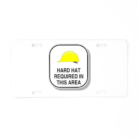 Warning Aluminum License Plate