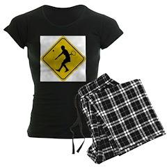 Tennis Crossing Sign (Woman) Pajamas